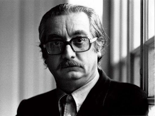 El escritor valenciano Joan Fuster. Marzo de 1975.