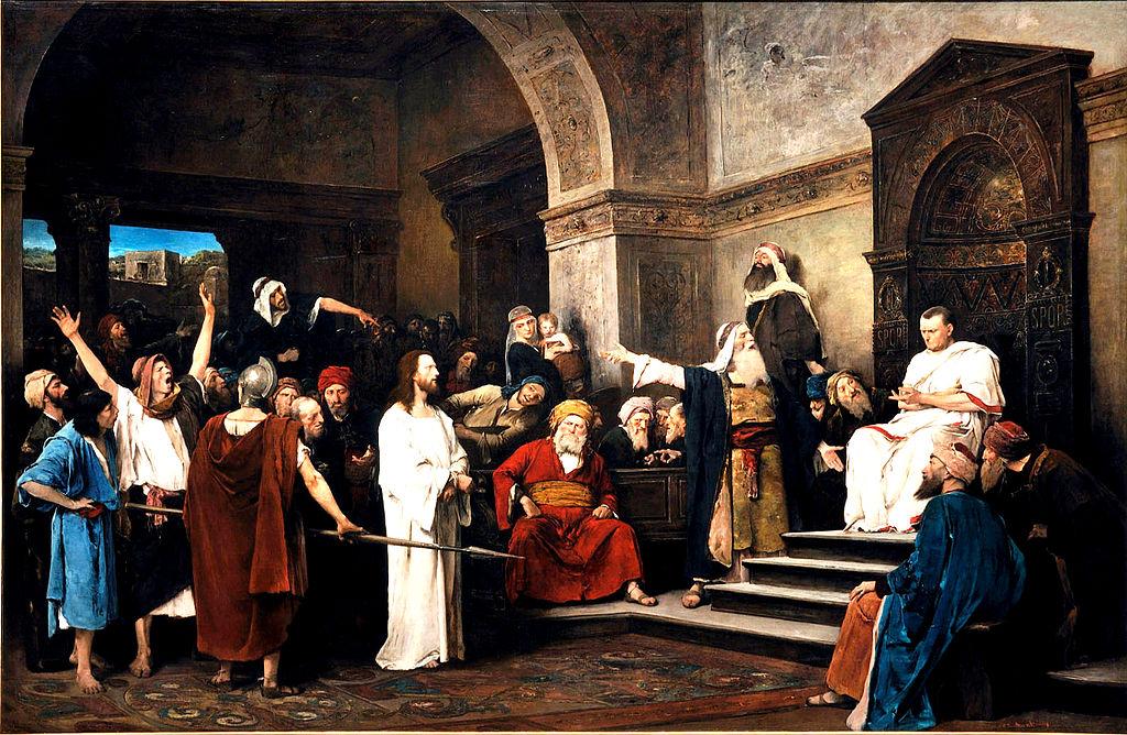 'Christ davant Pilat', per Mihaly Munkacsy.