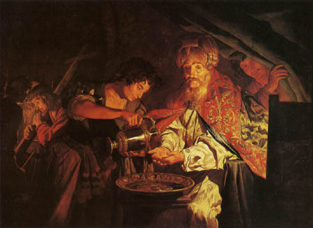 'Pilat rentant-se les mans', per Matthias Stomer.